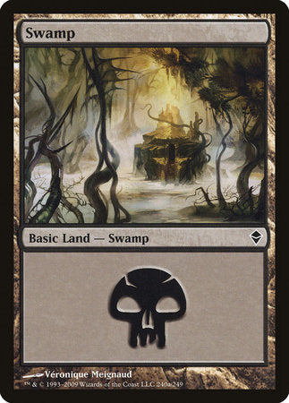 Swamp (240a) [Zendikar] | Marvin's Army Gaming