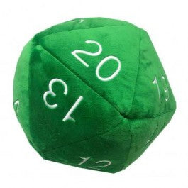 Ultra Pro Jumbo D20 Plush Die Green with White Numbers | Marvin's Army Gaming