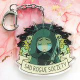 "Sad D&D Society 2.5"" Acrylic Charms"