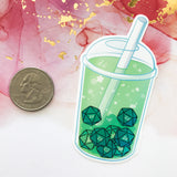 d20 Boba Tea Stickers