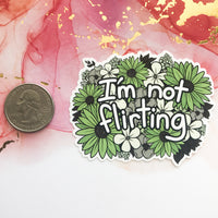 I'm Not Flirting Ace/Aro Sticker