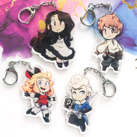 Bravely Default Acrylic Charms