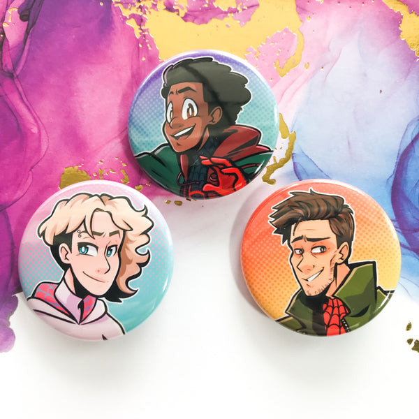Spiderverse Buttons