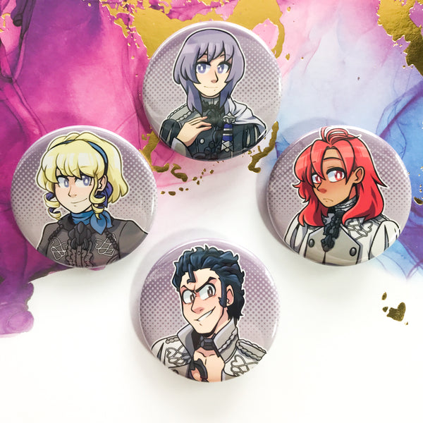 Ashen Wolves Buttons - Fire Emblem 3 Houses