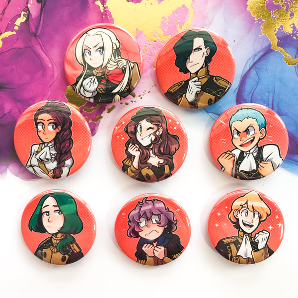 Black Eagles Buttons - Fire Emblem 3 Houses