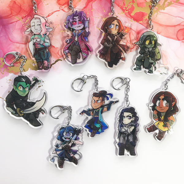 Critical Role Mighty Nein Acrylic Charms
