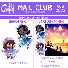 Load image into Gallery viewer, Castoff Mail Club Postcard + Sticker Set
