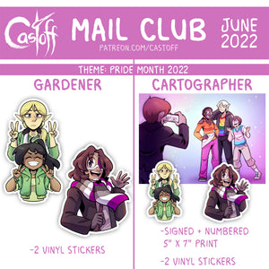 Castoff Mail Club Postcard + Sticker Set