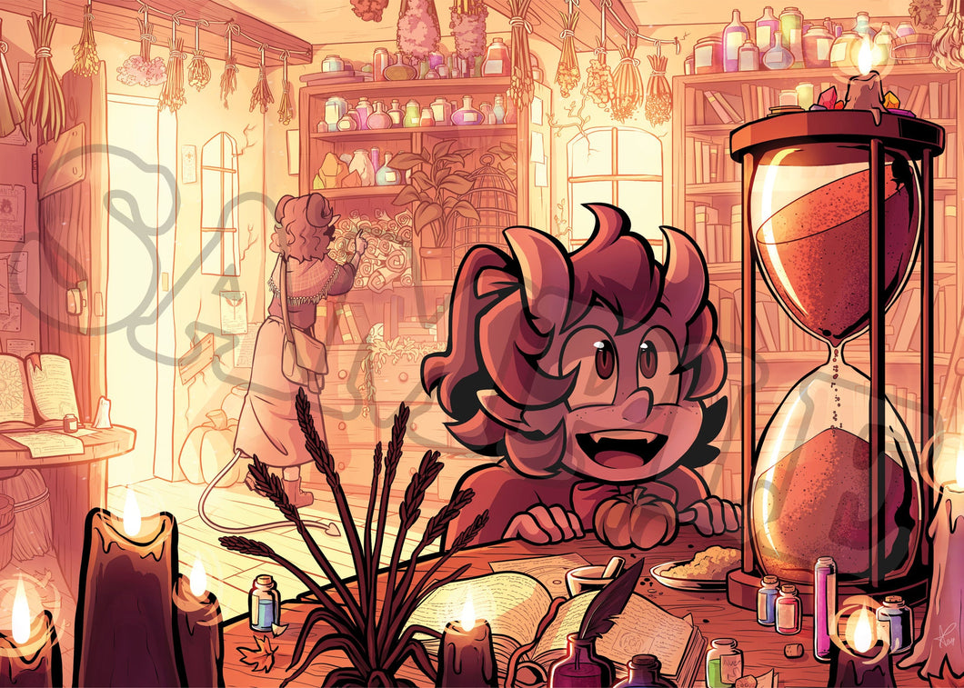 Tiefling Magic Shop Mini Print