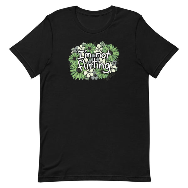 I'm Not Flirting Aromantic Unisex T-Shirt (4 Colors Available!)
