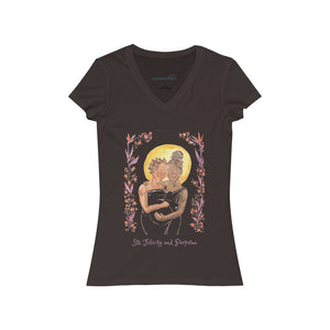 Sts. Felicity and Perpetua- Women''s V-Neck T-Shirt