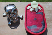 Load image into Gallery viewer, Trinket tray/rolling tray-glow in the dark skulls & bowl