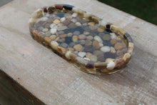 Load image into Gallery viewer, Trinket tray/rolling tray/soap dish - River rocks