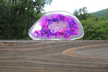 Load image into Gallery viewer, Resin geode coaster - purple