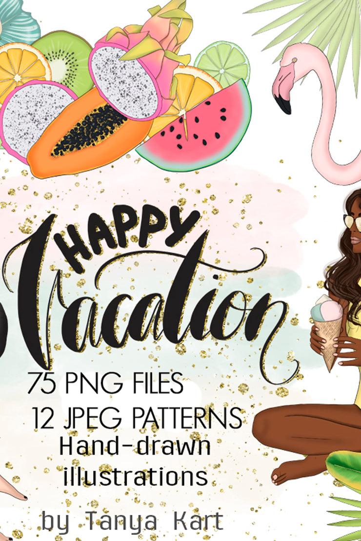 Happy Vacation Clipart