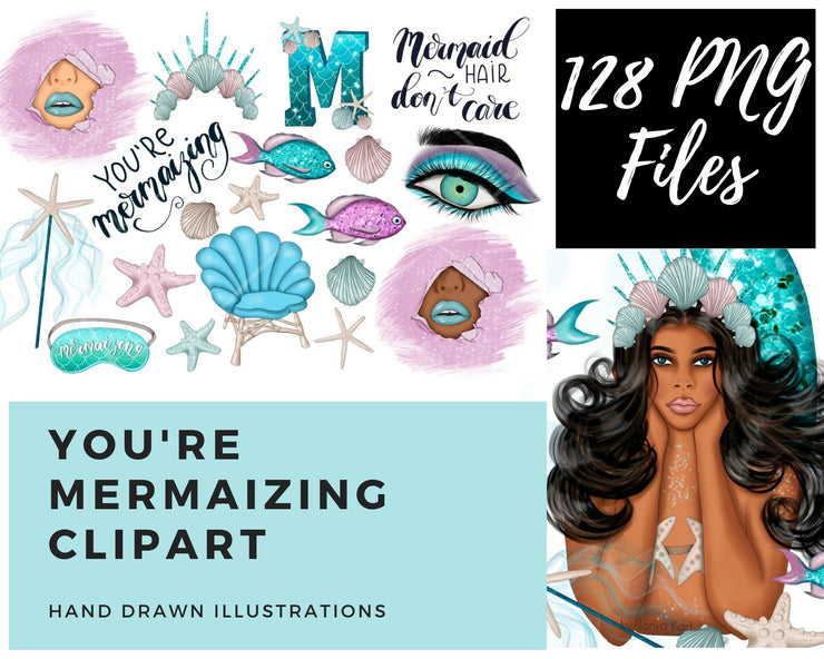 You Are Mermaizing Clipart