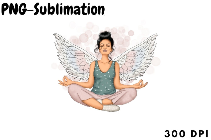Yoga Sublimation Mindfulness Png
