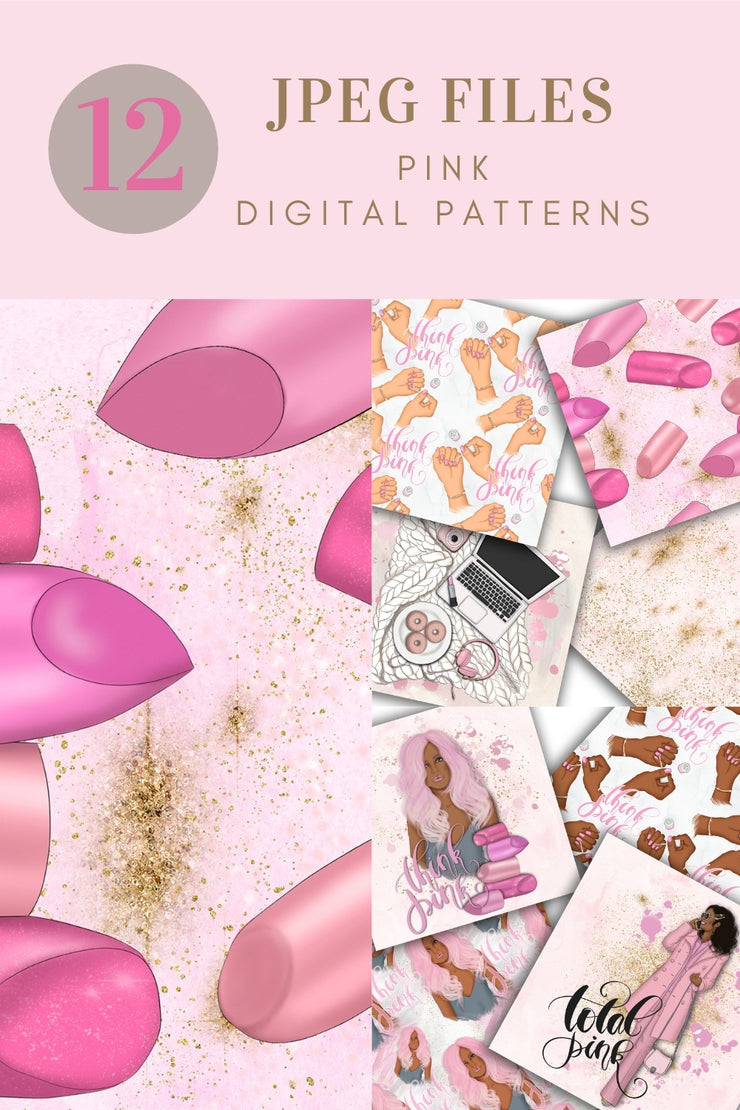 Think Pink Digital Papers