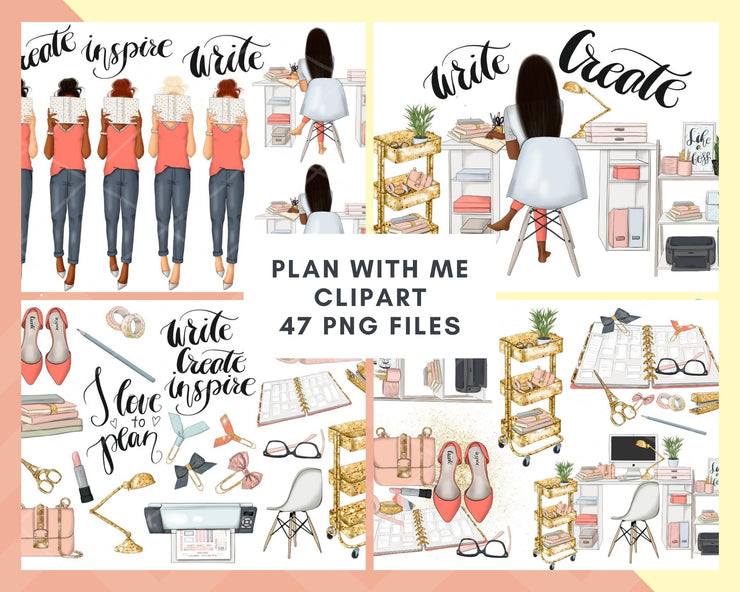Plan With Me Clipart