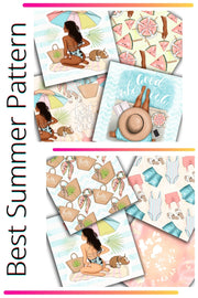 Best Summer Ever Digital Papers