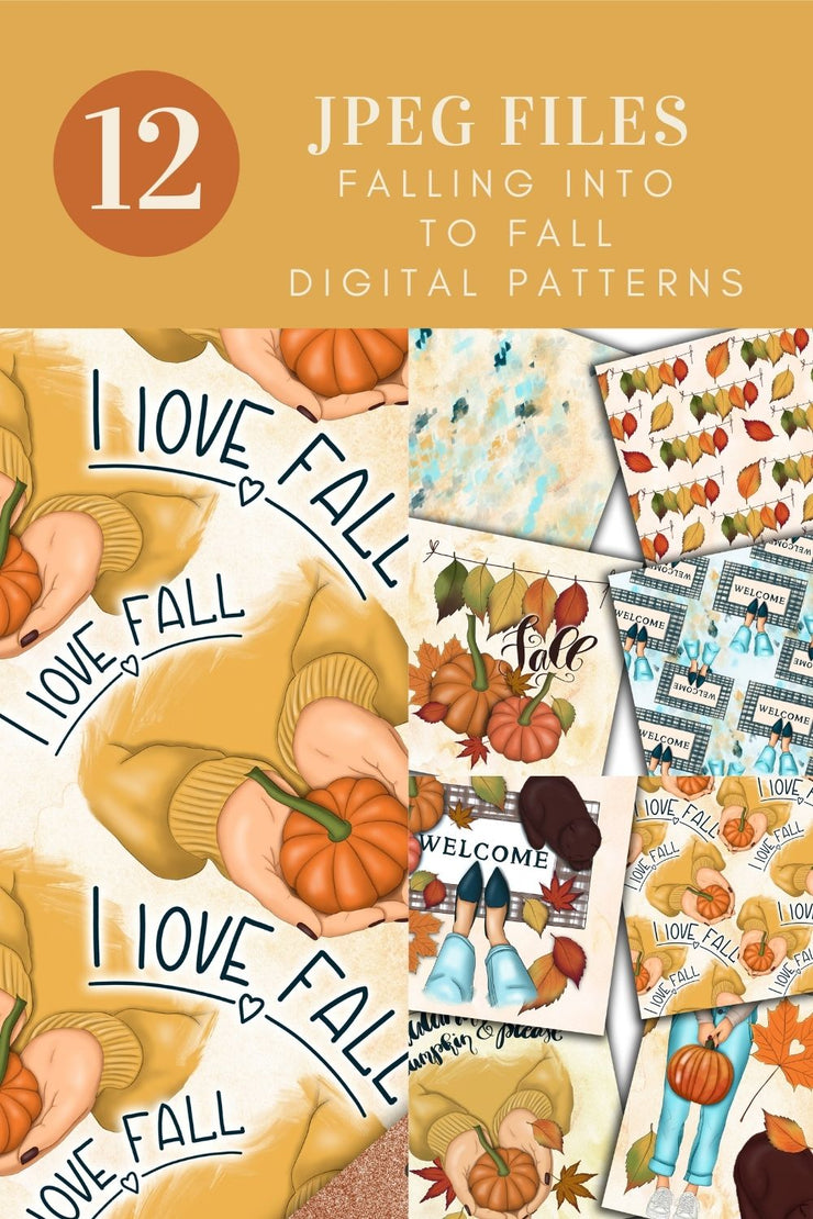 Falling Into Fall Digital Papers