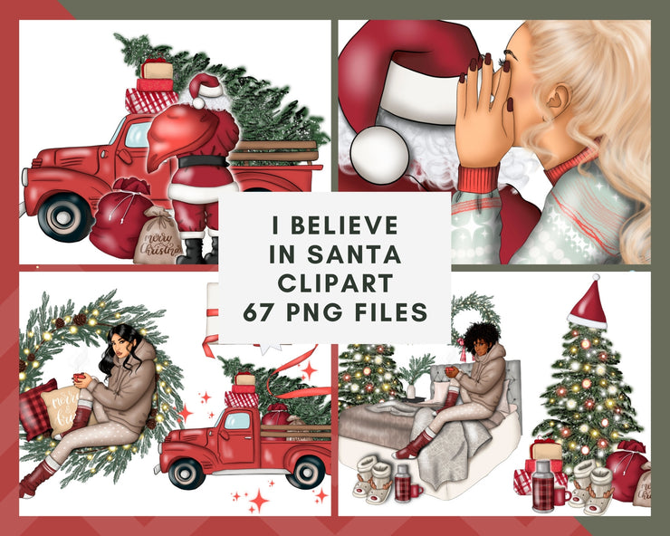 I Believe In Santa Clipart