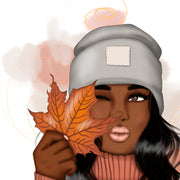 Afro Girl Autumn Png
