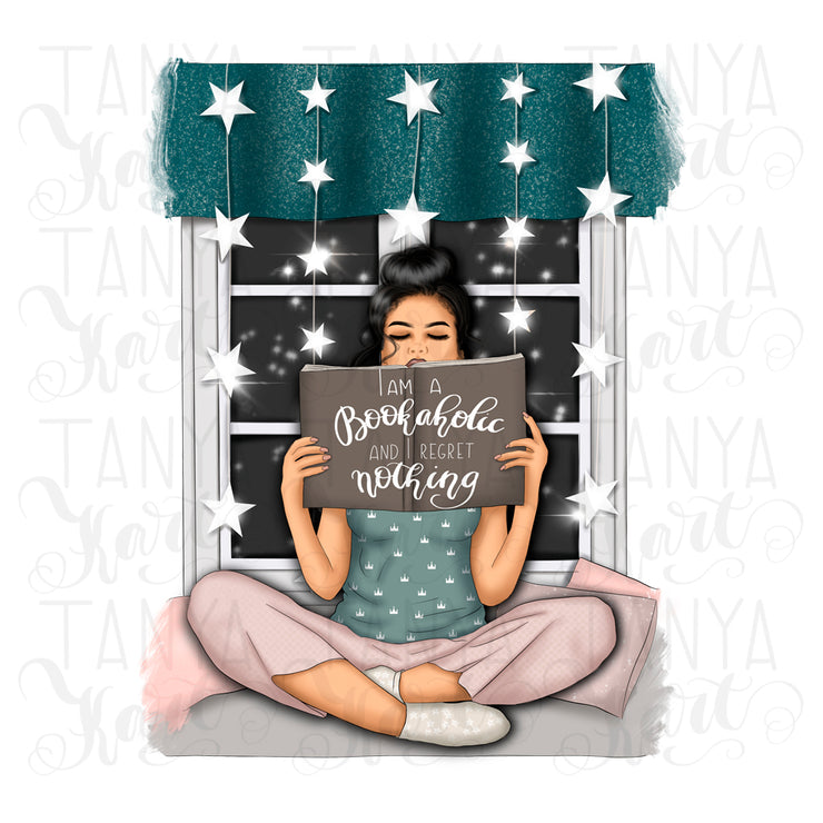 Reading Girl Sublimation Bookish Design