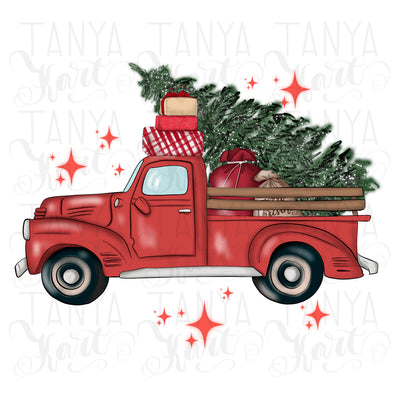 Santa's Car Sublimation
