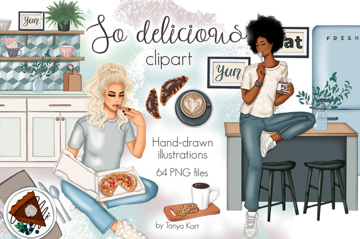 So Delicious Hand-Drawn Clipart