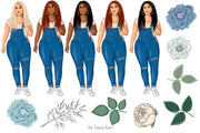 I Love Denim Hand-Drawn Clipart