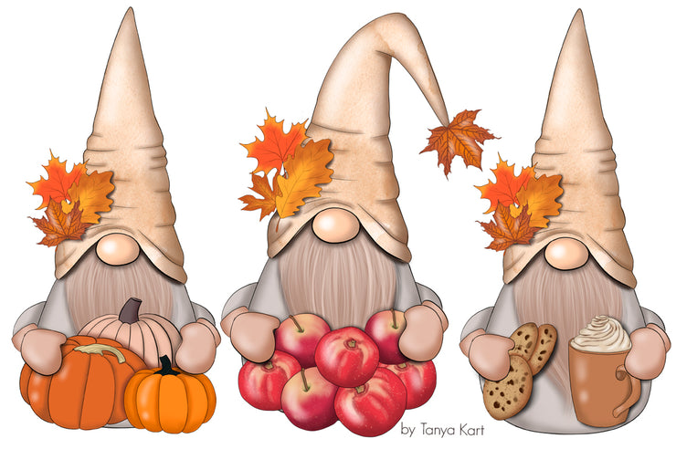 Fall Nordic Gnomes Planner Icons