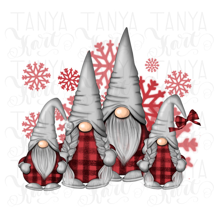 Family Gnomes Xmas Sublimation