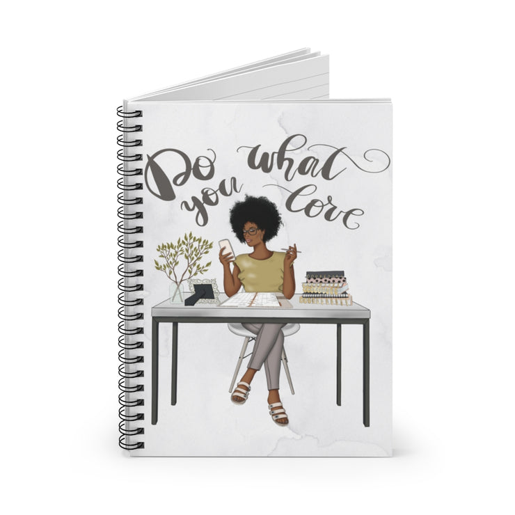 Afro Woman Spiral Notebook - Ruled Line