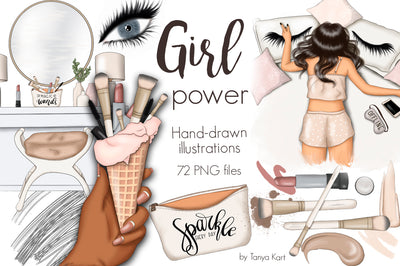 Power Girl Clipart