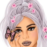 Spring Design, Butterfly Art, Woman Png