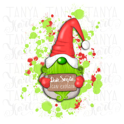 Green Gnome | Dear Santa I Can Explain