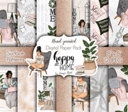 Happy at Home Digital Paper Pack