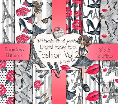 Fashion Cosmetic Digital Paper