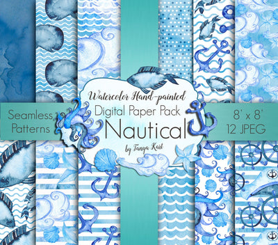 Watercolor Nautical Paper