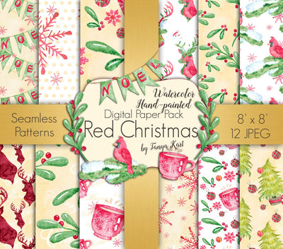 Red Christmas Paper