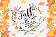 Fall Watercolor Clipart