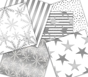Silver Christmas Paper