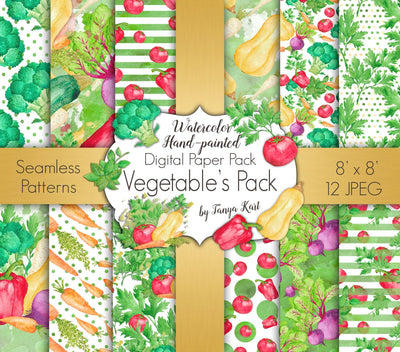 Vegetable's Digital Paper Pack