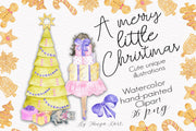 A Merry Little Christmas Clipart