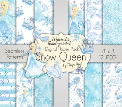 Snow Queen Christmas Paper