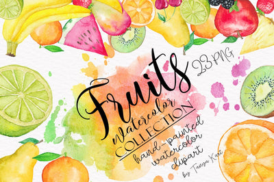 Fruits Watercolor Collection