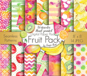 Watercolor Fruit Digital Paper
