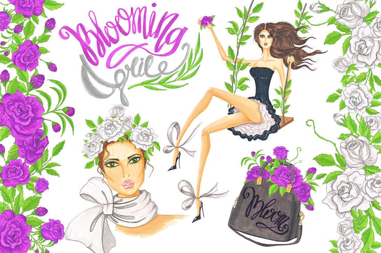 Blooming April Spring Clipart