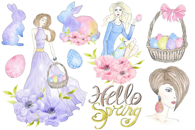Happy Easter Spring Clipart